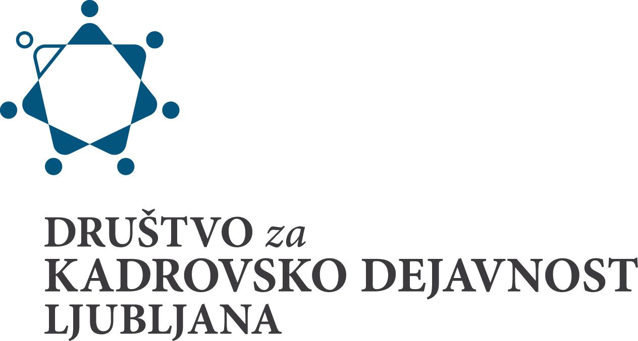 Logo - društvo za kadrovsko dejavnost Ljubljana